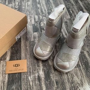 UGG Australia Classic Silver Patchwork Boots